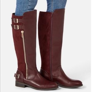 Zip & Buckle Riding Boots